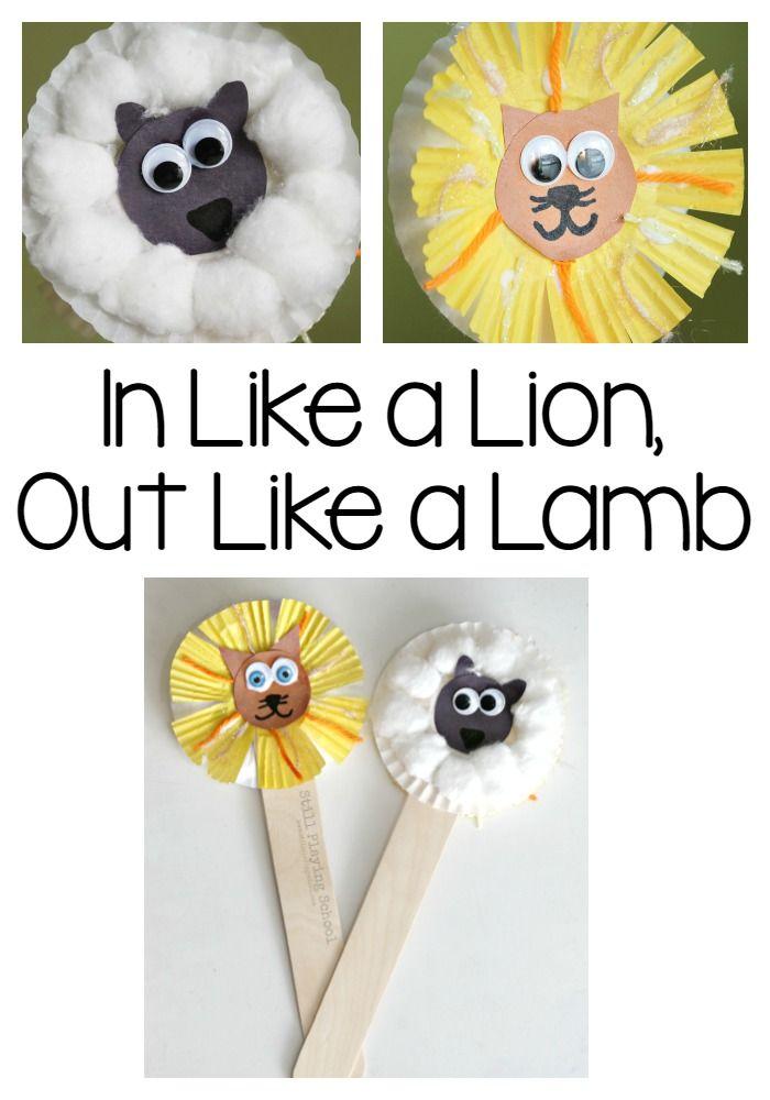 Lion And Lamb Puppets Kids Crafts Pinterest Preschool
