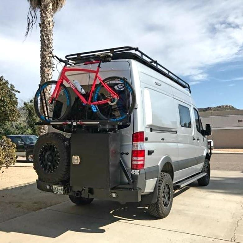 Winnebago Revel 4x4 With Aluminess Rear Bumper Swing Arms For