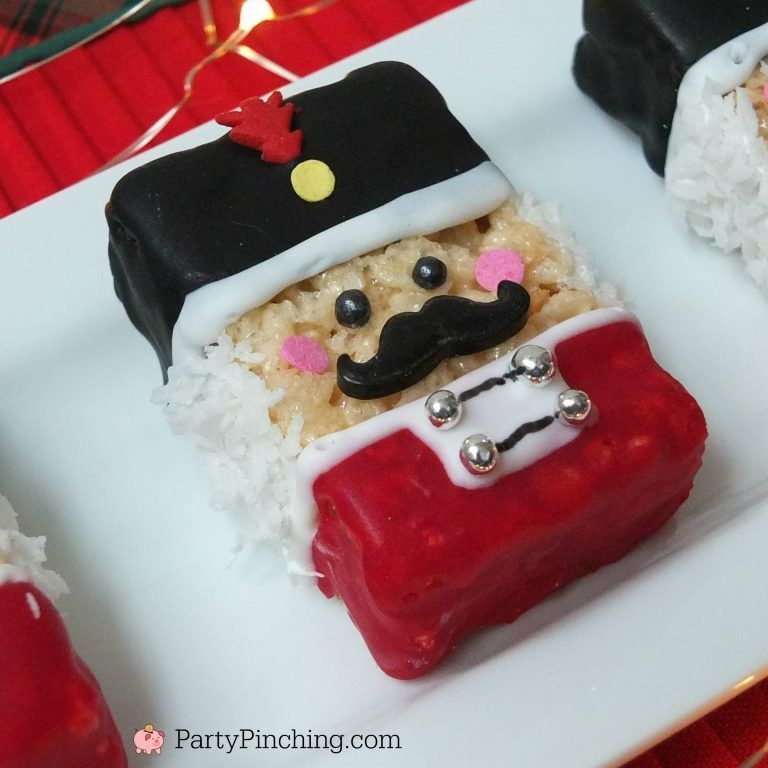 NUTCRACKER RICE KRISPIE TREATS #ricekrispiestreats