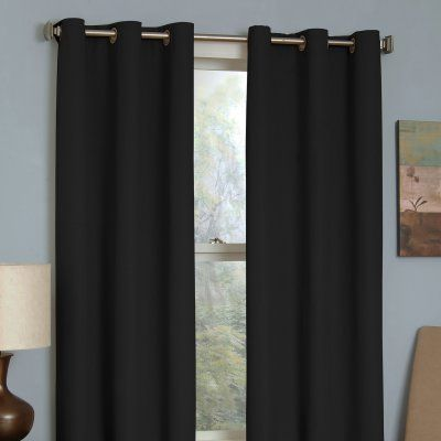 Eclipse Thermaback Microfiber Grommet Blackout Window Panel 10708042x063be Eclipse Curtains Panel Curtains