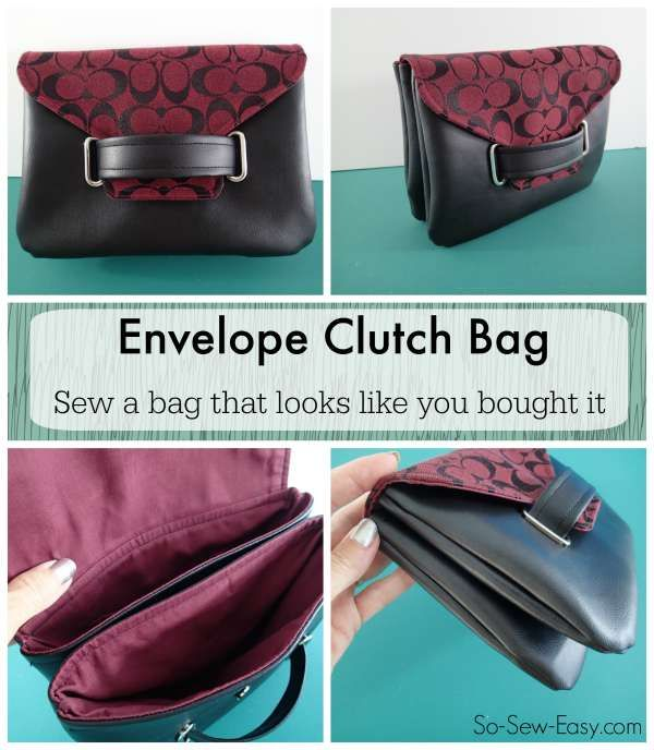 The Envelope Clutch Bag - free bag pattern   Free pattern, Tutorials ...