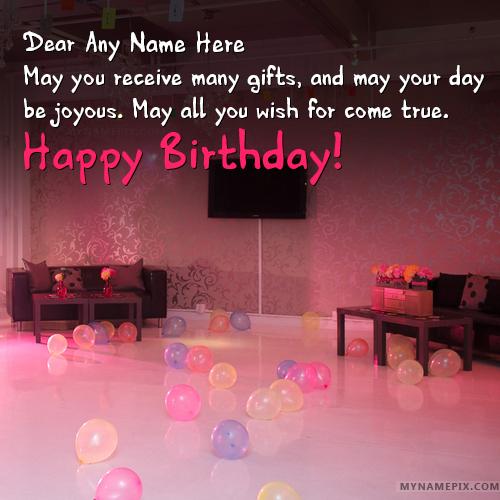 Write Name On Romantic Birthday Wishes Happy Birthday