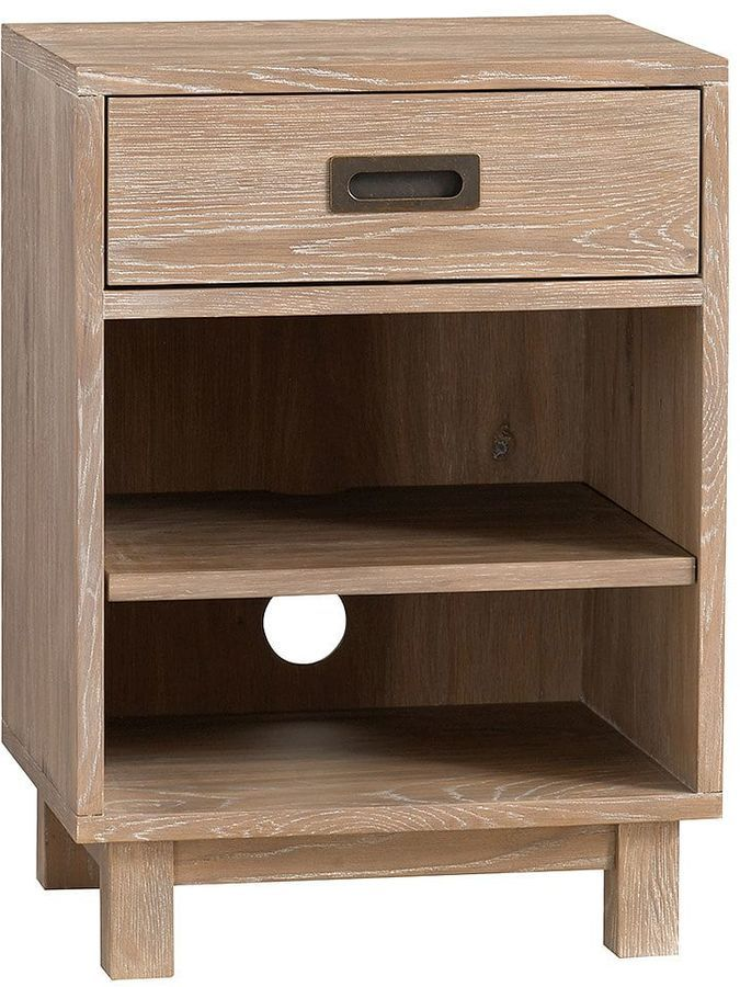 Light Grey Bedside Table: Morgan Bedside Table, Smoked Gray