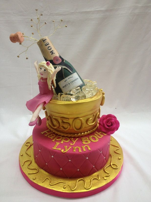 Images Of Birthday Cake And Champagne : champagne-ice-bucket-cake cakes *** Pinterest Ice ...