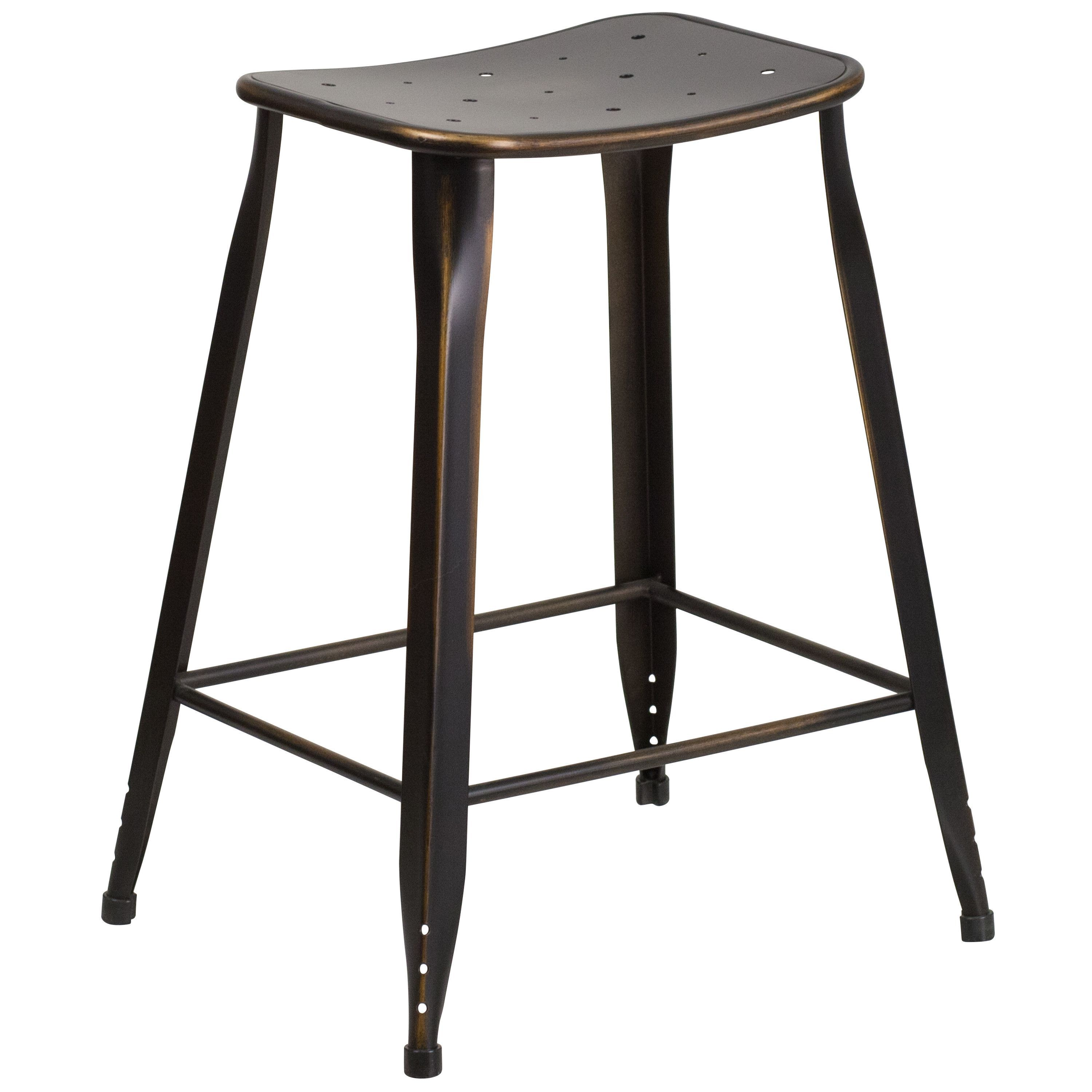 Astonishing Distressed Metal Counter Height Craft Stool Crafts Alphanode Cool Chair Designs And Ideas Alphanodeonline