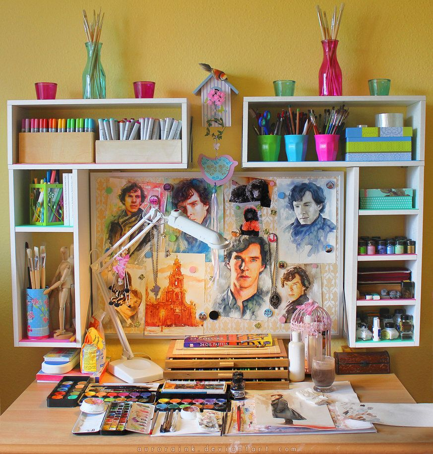 Bedroom Art Supplies: Artists Homes In 2019