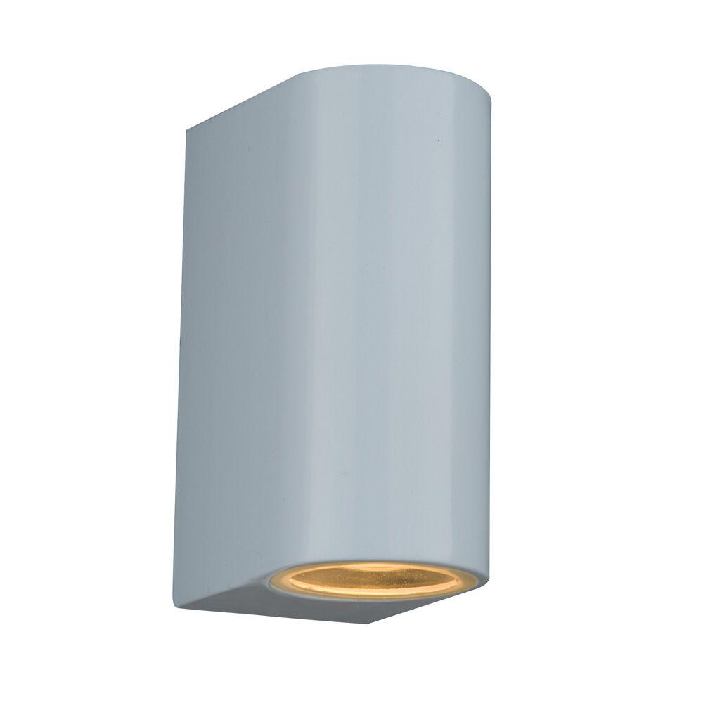 Saxby 13916 doron 2 light gloss white wall bracket chalet lighting contemporary wall lights uk modern wall lighting aloadofball Image collections