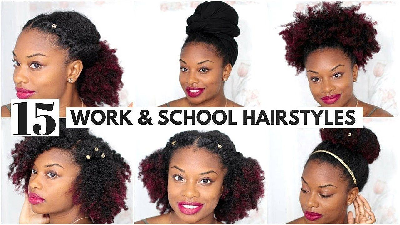 15 Easy Natural Hairstyles For Work And Back To School Video Blackhairinformat Quickbraid Qui Natural Hair Styles Easy Natural Hair Styles Hair Styles