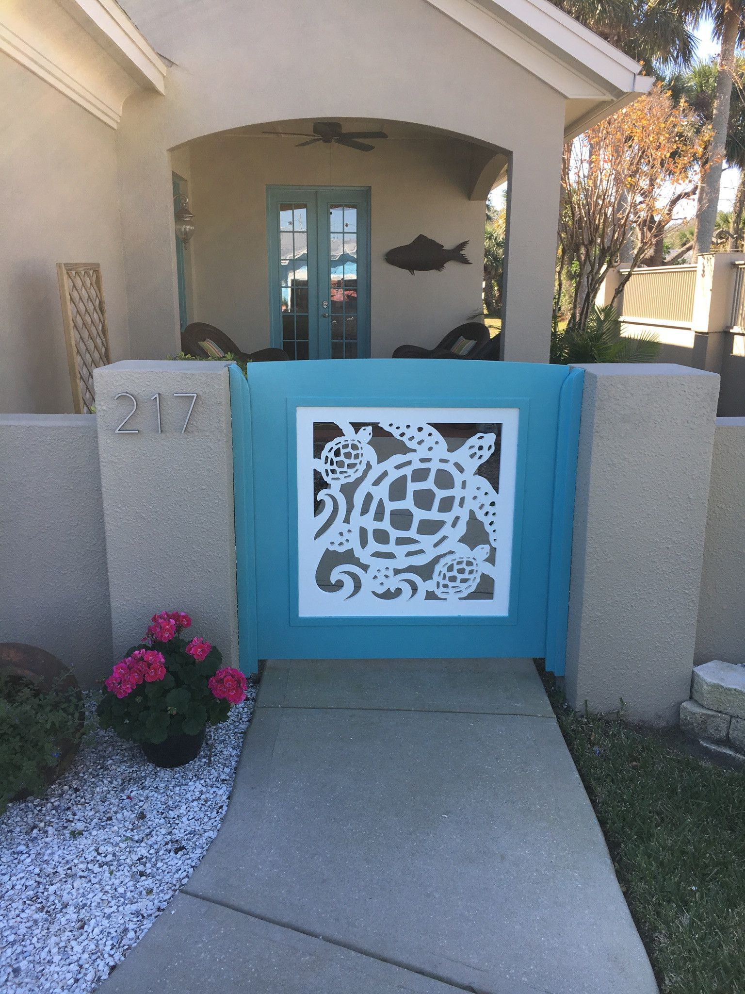 Our beautiful, all-weather PVC gate and porch railing panels add ...