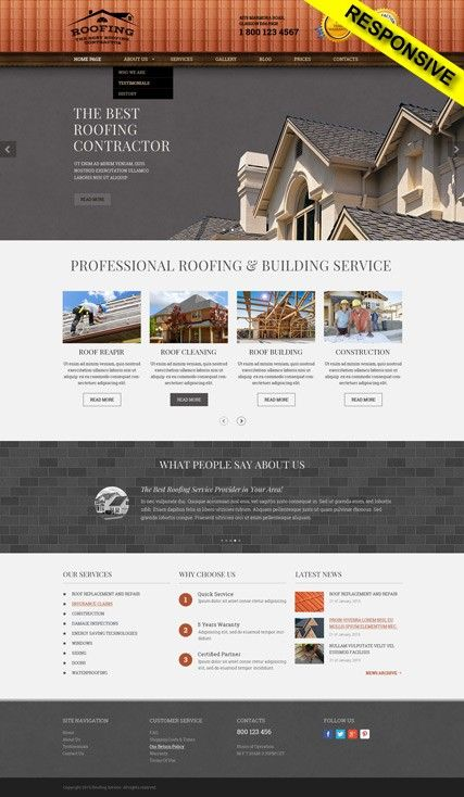 Roofing Website Templates Wordpress Templates 300111853 Roofing Wordpress Template Cool Roof