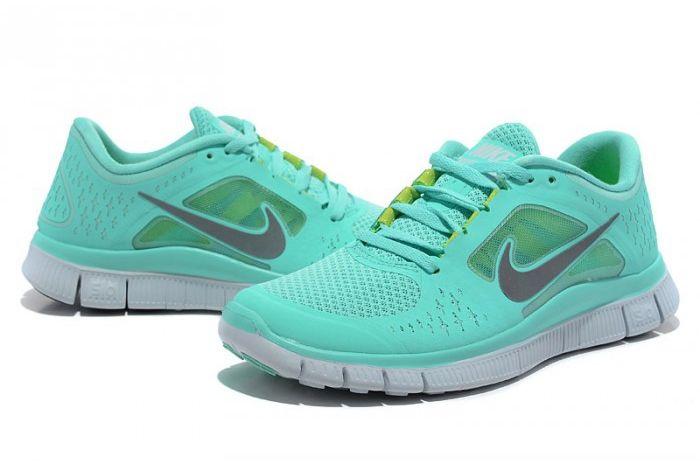 8e1a1311a5d4b Nike Free 5.0 V3 Womens Running Shoes Green Grey