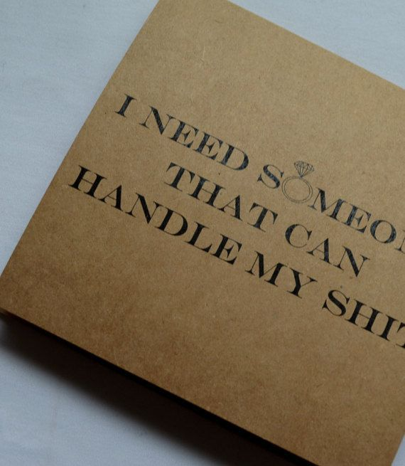 Handle My Maid Of Honor Card Someone To Funny Sarcastic Bridesmaid Bridal Proposal Kraft