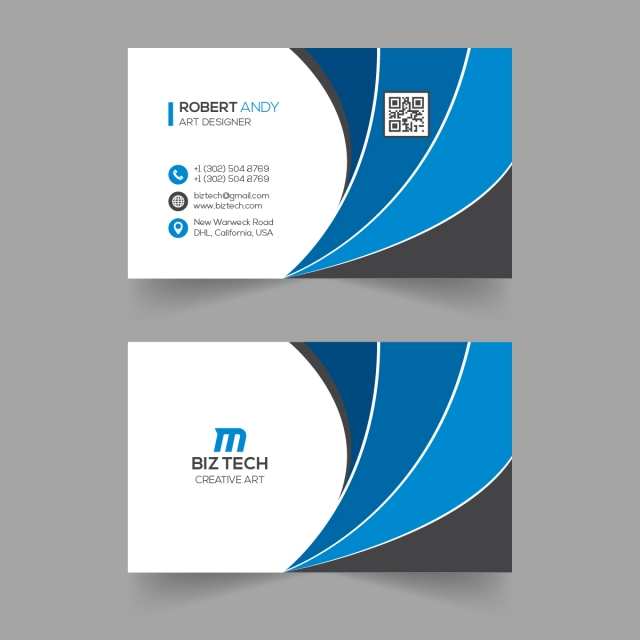 Abstract Vector Business Card Template Vector Business Card Business Cards Vector Templates Business Card Template