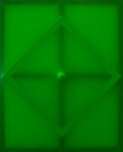 o.t.(latex grün), mixed material, 110x90, 2015