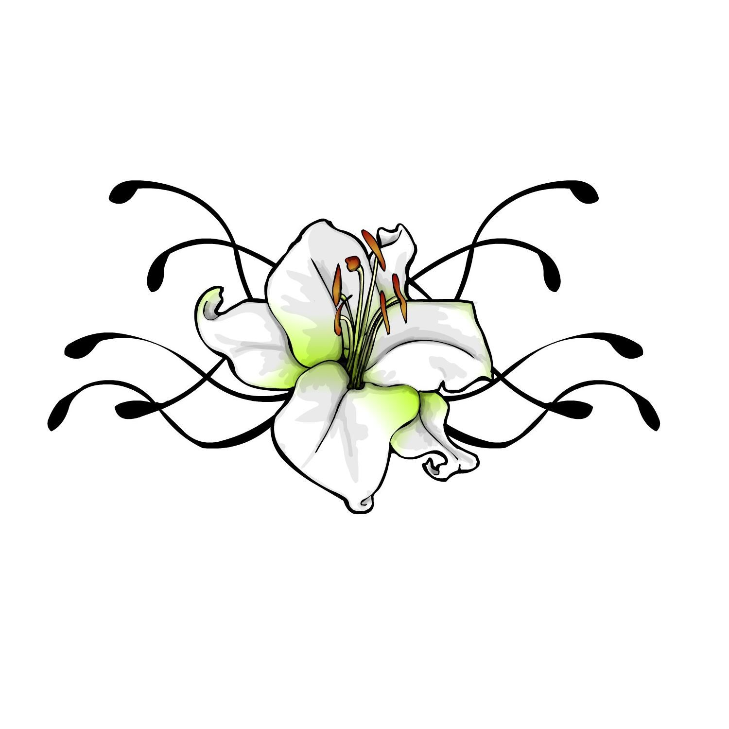 Flower Drawings For Tattoos Tattoo Flower Designs Lily Flowers