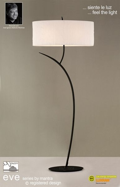 Mantra Lighting Eve Floor 2 Light Antracite With White Shade Online From The Company Free Uk Delivery On Orders Over