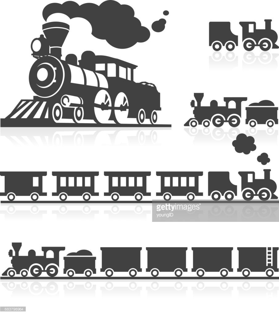 3d And 2d Icon Set Of American Style Classic Steam Trains Train Illustration Train Tattoo Train Theme