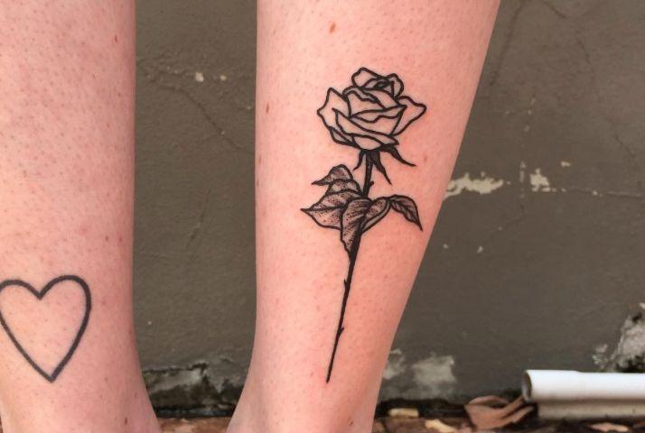 12 Blackwork Rose Tattoos That Put An Edgy Twist On The