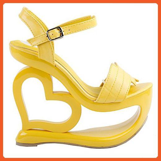 b1381150568 Show Story Fashion Chic Yellow Ankle Strap High Heel Platform ...