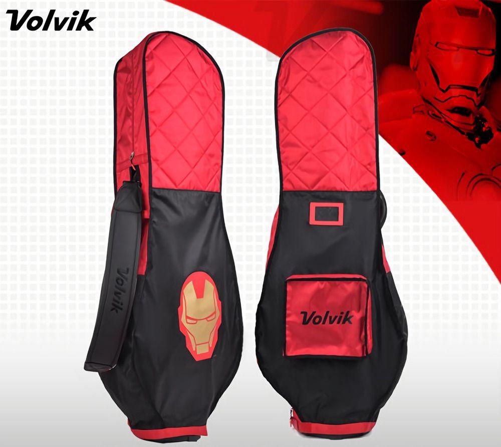Volvik New Premium Marvel Iron Man Travel Golf Bag Cover Hood Case Rain Carry Volvik