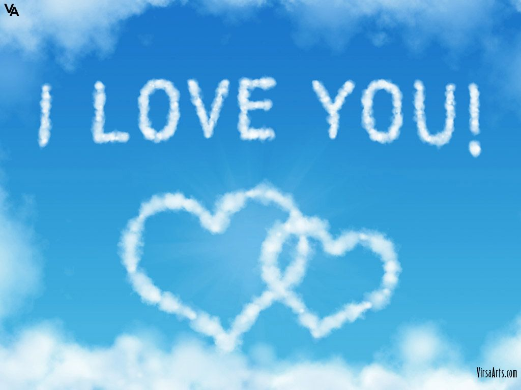 I Love You In Clouds Wallpaper Iphone Love Love You Images I