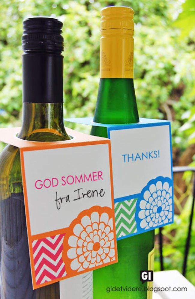 FIESTA Bottle Gift Tags things to do Pinterest Free - free wine bottle label templates