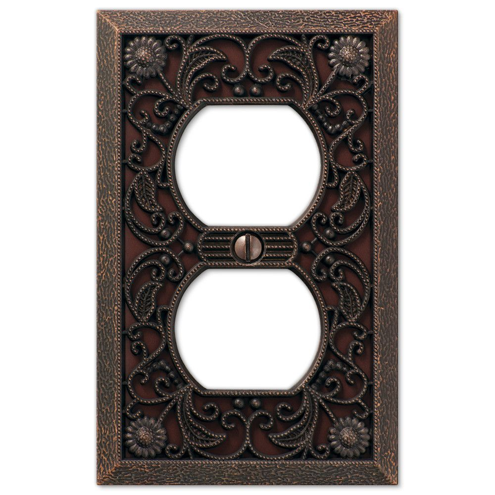 Filigree Aged Bronze Cast 1 Duplex Wallplate In 2018 Remodel Light Switchplates Outlet Covers Switch Plates Wallplates Wall Plate