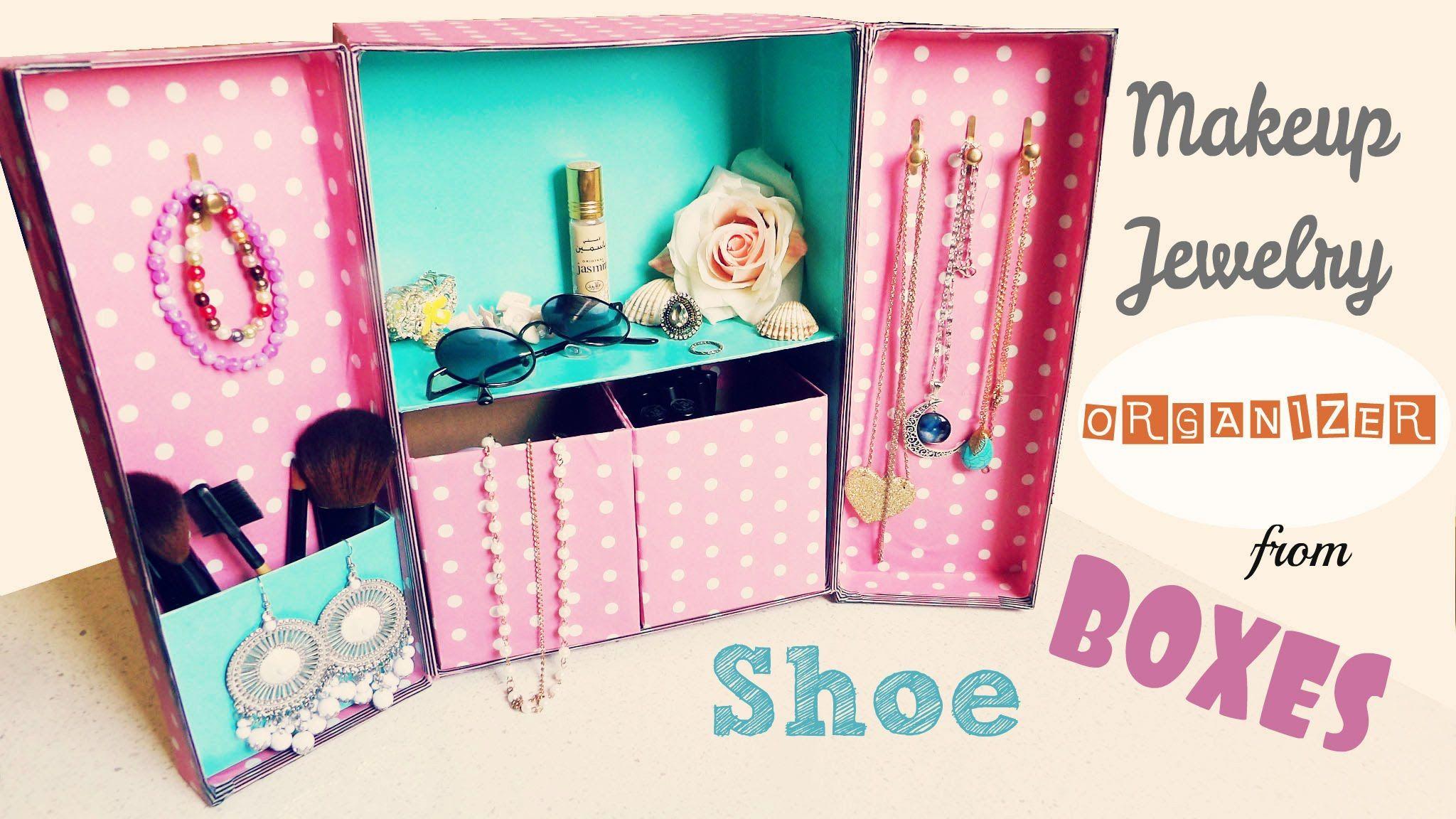 Diy Storage Makeup Jewelry Organizer From Shoe Bo You