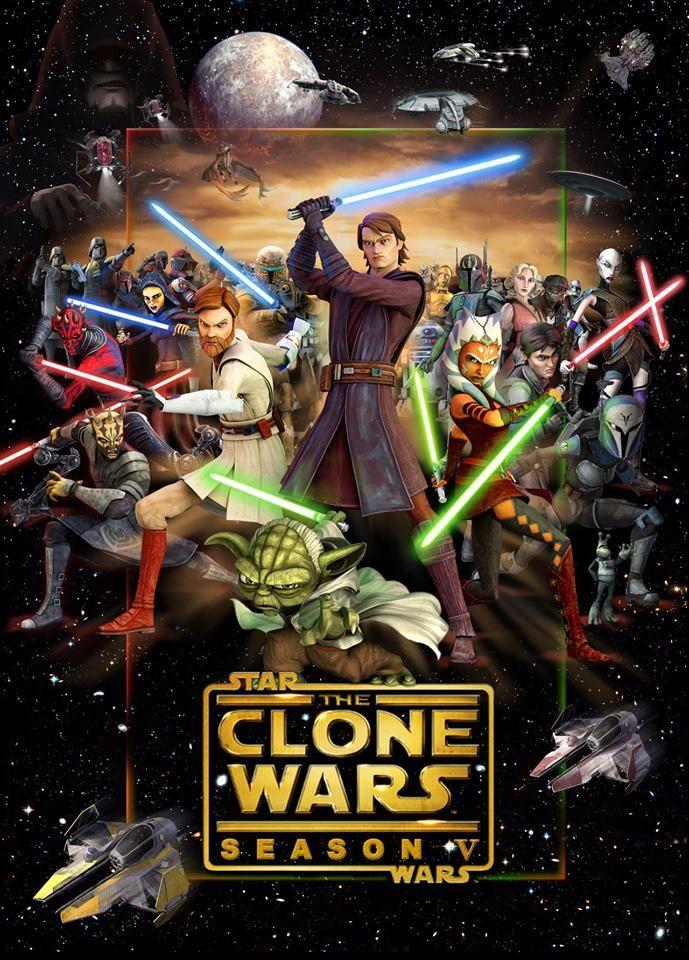 Star Wars - The Clone Wars (Season 5 Poster)   Fav cartoons