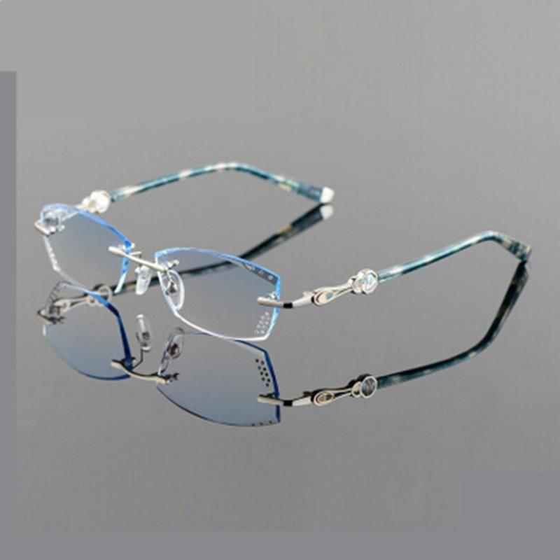 2490a9107831 BINYEAE New Freeshipping Solid Eyeglass Frames Myopia Glasses Frame Women  Rimless Eyeglasses Eye Box Ultra-light Discoloration. Yesterday s price  US   79.99 ...