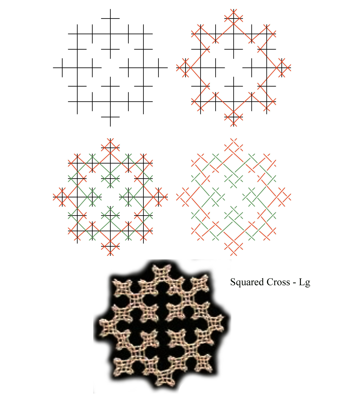 Squared Cross - Lg - Lattice Diagram | Embroidery Stitches ...
