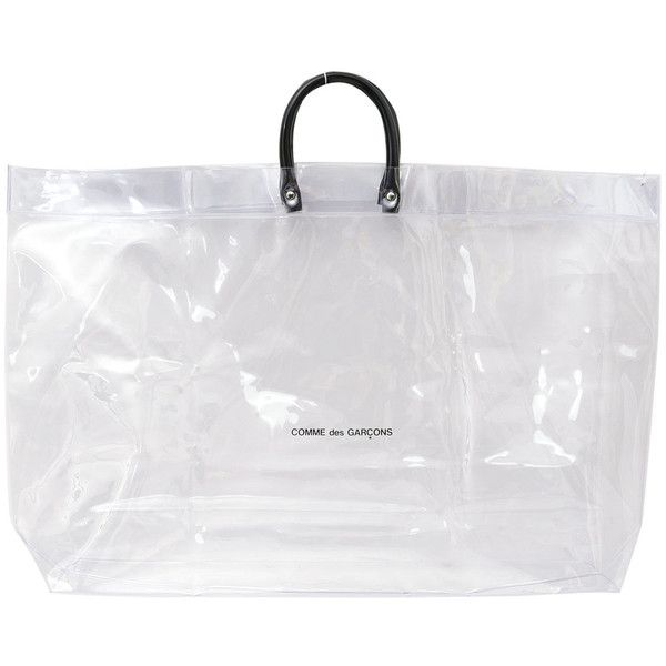 4b76377a773a COMME des GARCONS PVC TOTE BAG CLEAR (240 BRL) ❤ liked on Polyvore  featuring bags