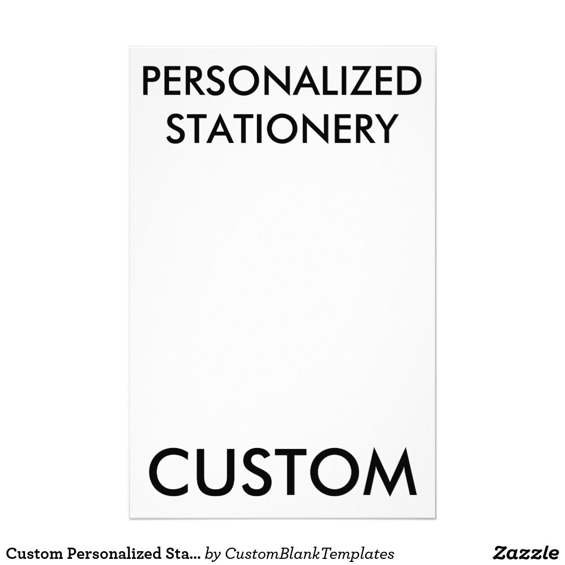 custom personalized stationery blank template personalized stationery