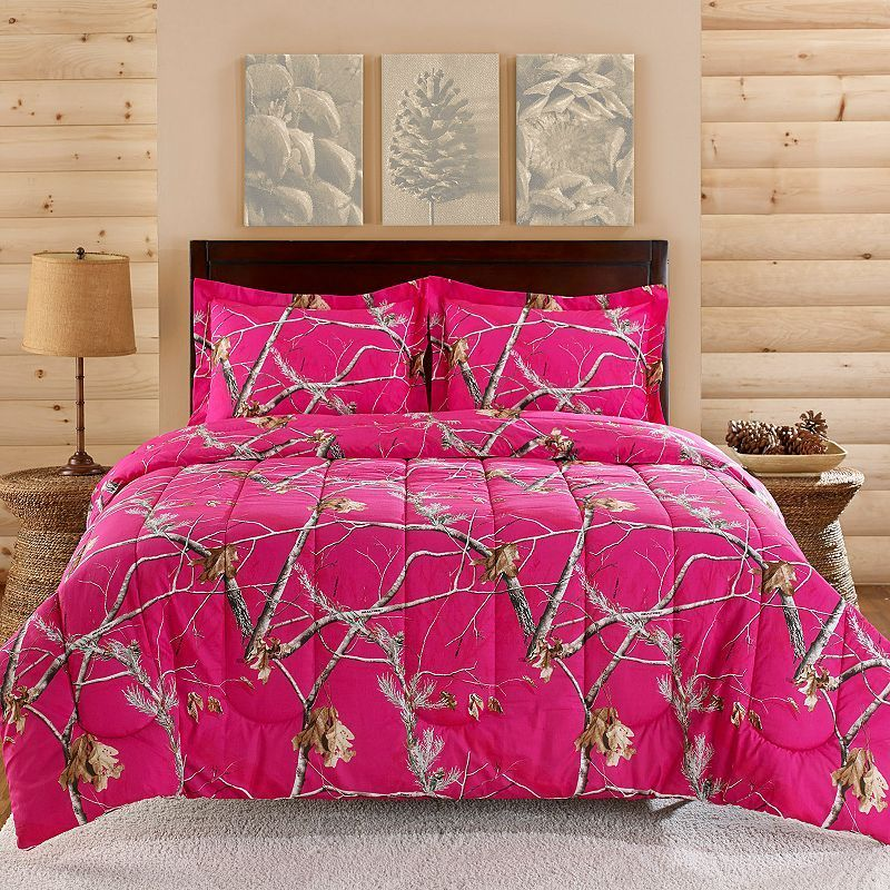 Realtree Camo Comforter Set, Realtree Pink Camo Bedding Queen