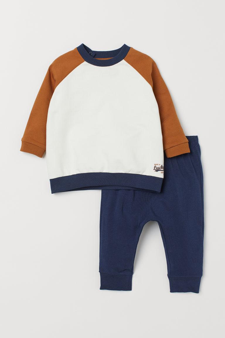 Sweatshirt And Leggings White Light Brown Kids H M Us Sweatshirts White Sweatshirt Baby Boy Outfits [ 1152 x 768 Pixel ]