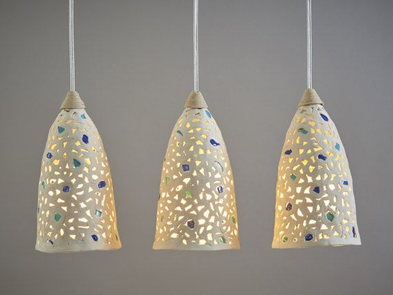 Lighting Hanging Lamp Shades Pendant Lighting 3 Ceramic Etsy