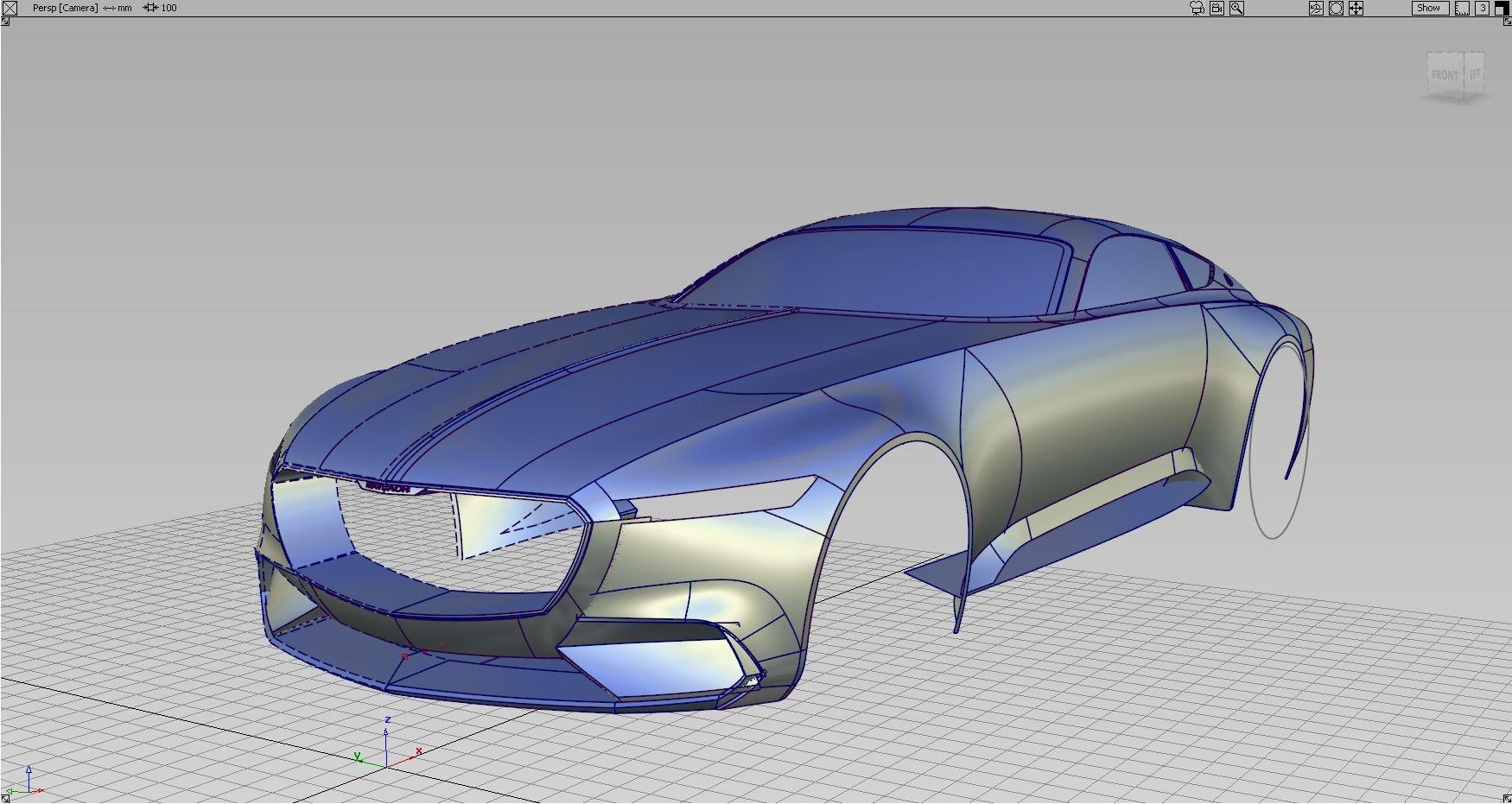 Alias Vred Mercedes Benz Vision Maybach 6 Concept On Behance Concept Car Sketch Maybach Car Model