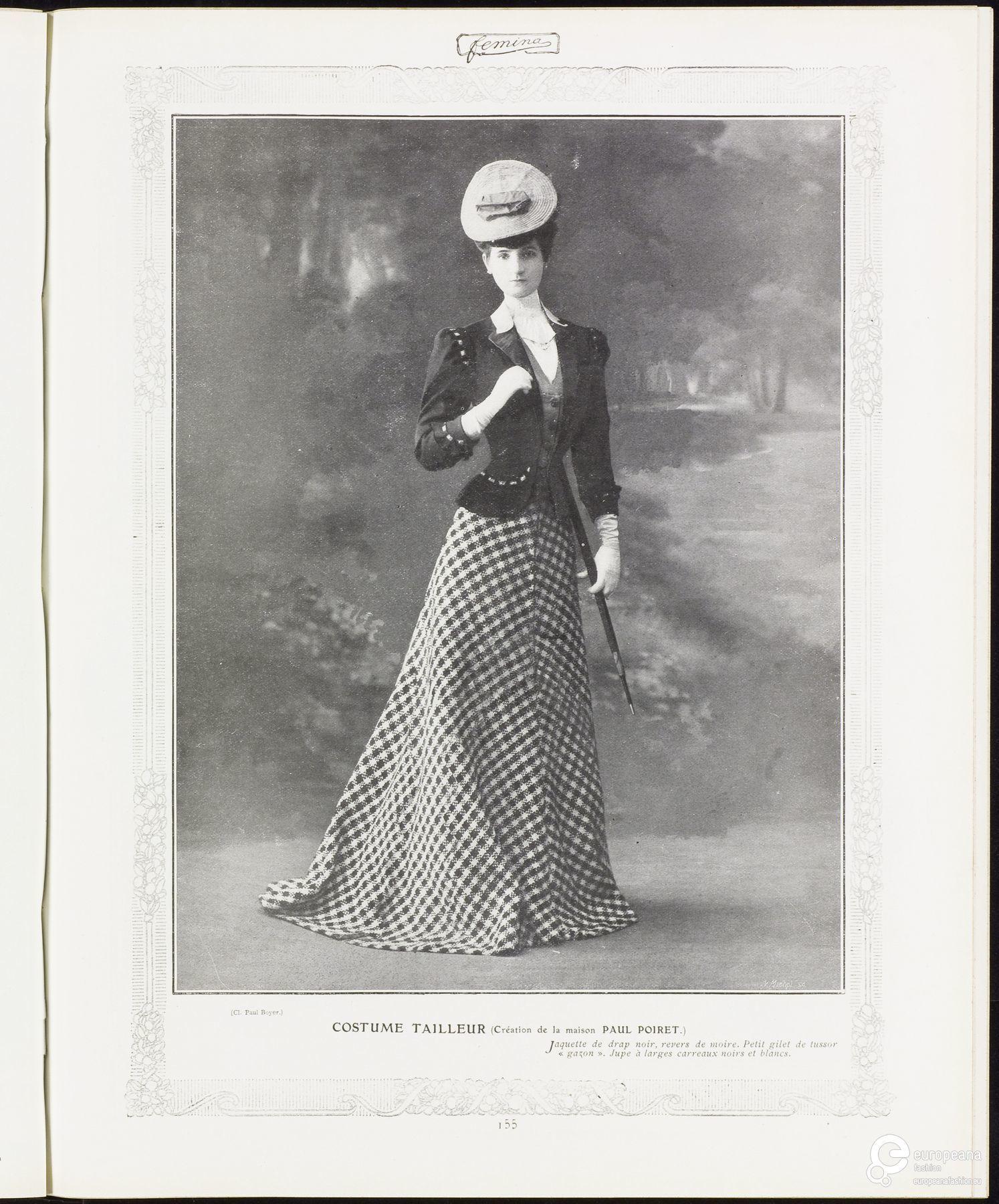 Costume tailleur (Création de la maison Paul Poiret)