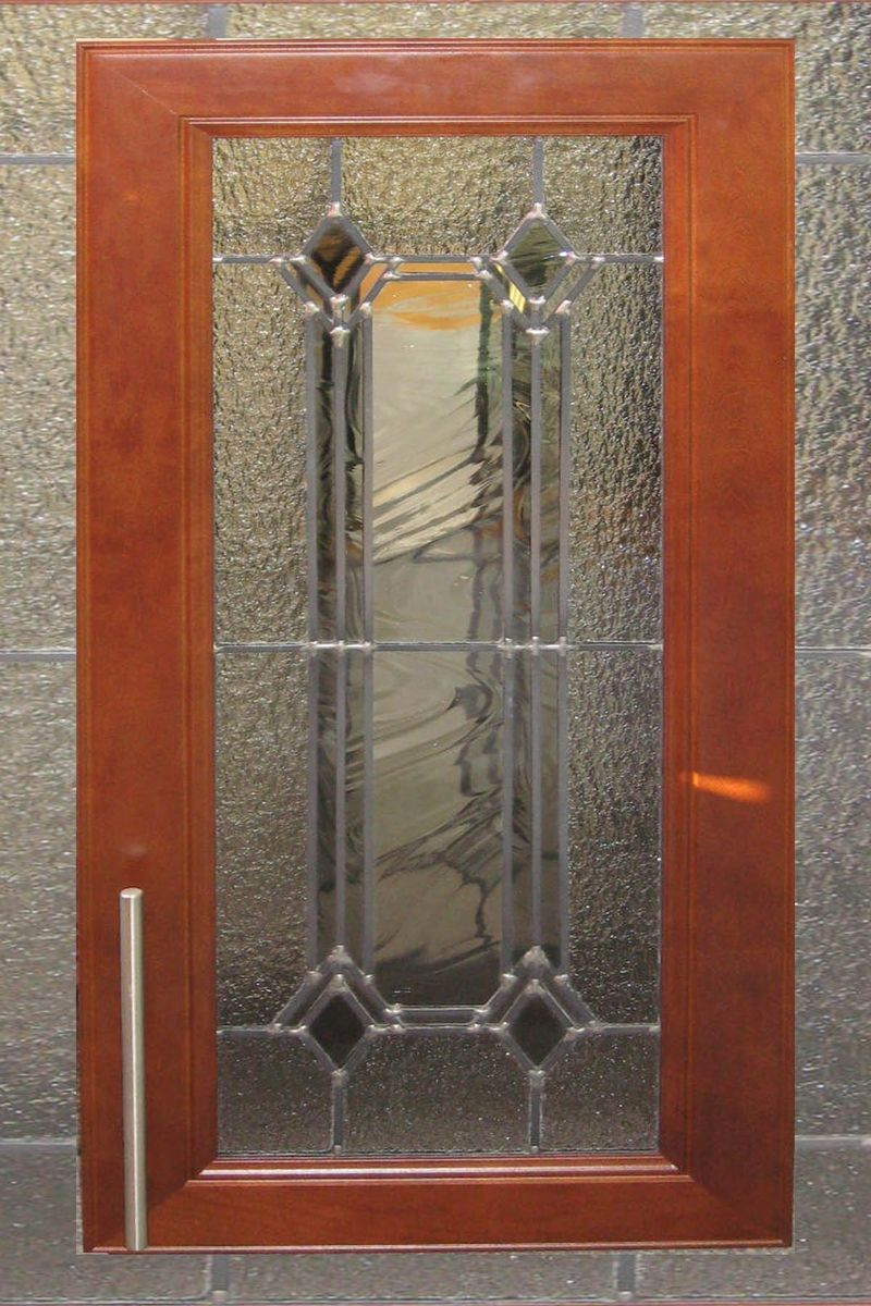 Stained Glass Cabinet door pattern, use opaque glass ...