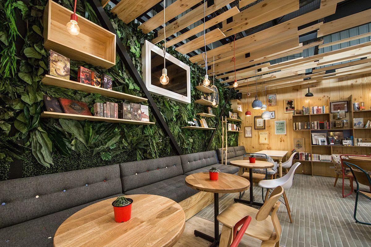 9 3/4 BOOKSTORE + CAFÉ / Diseño Interior on Behance   Biblio ...