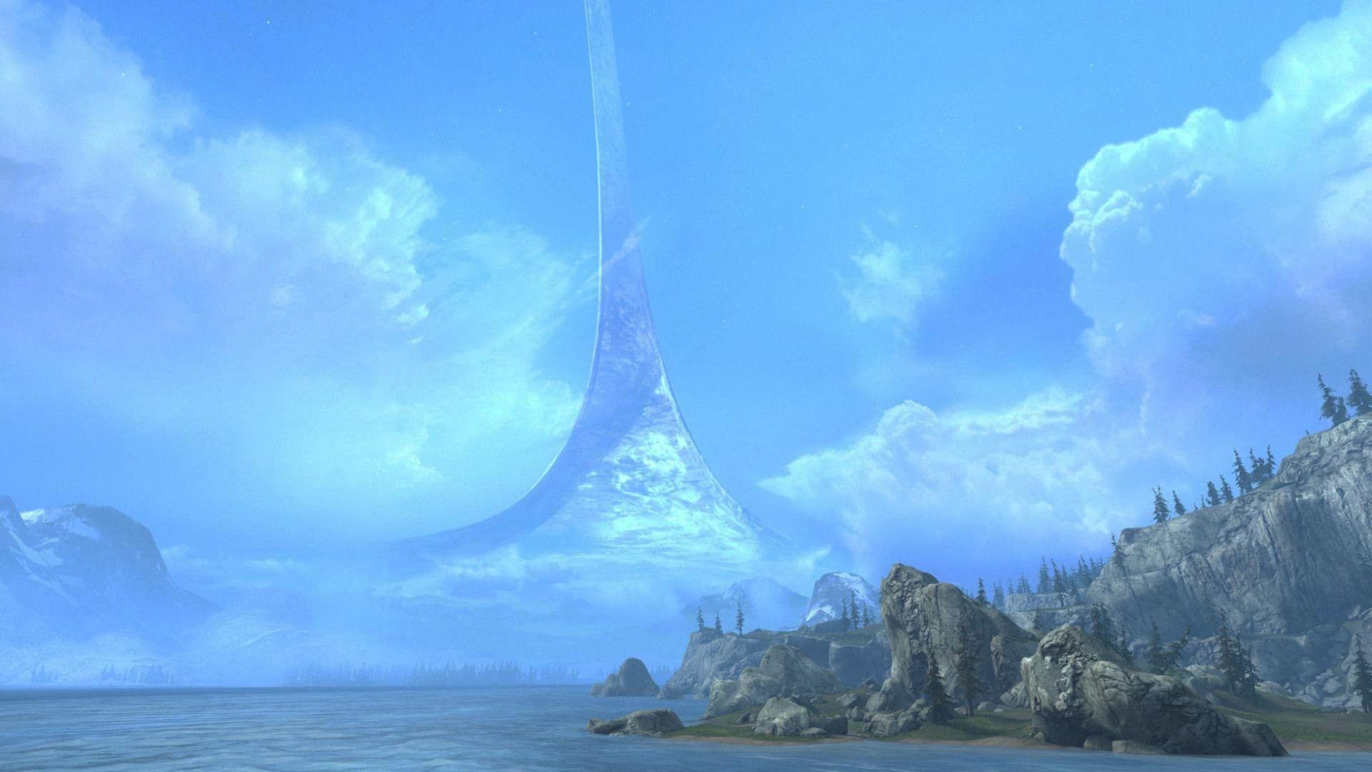 Ring World Halo Wallpaper 1920x1080 1920x1080 Beautiful Landscapes Fantasy Landscape Sci Fi Wallpaper