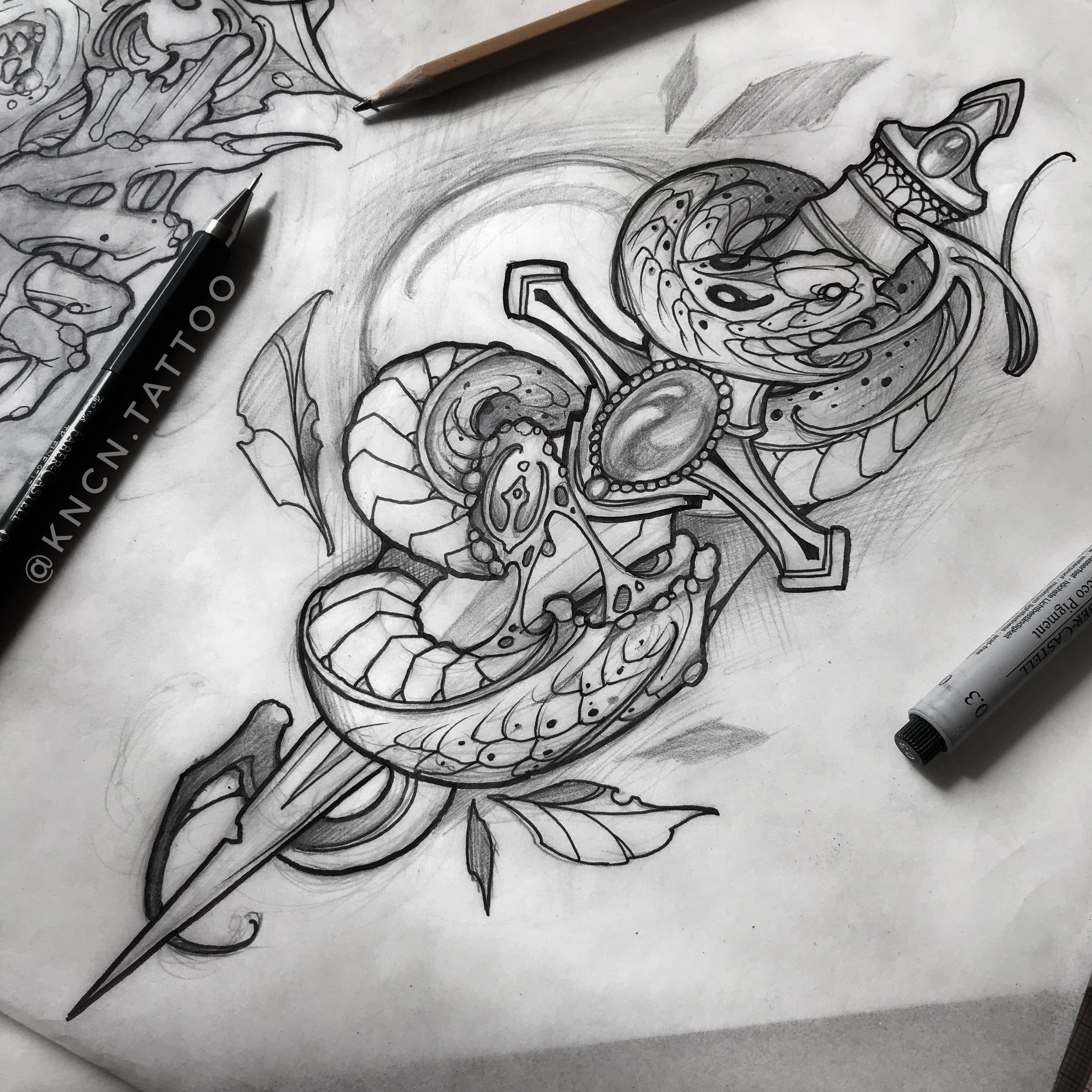Neotraditional Snake Tattoo Design Kncn Tattoo Tattoo Neotraditional Art Tradition Tatuaje De Serpiente Tradicional Tatuajes Tradicionales Brazos Tatuados