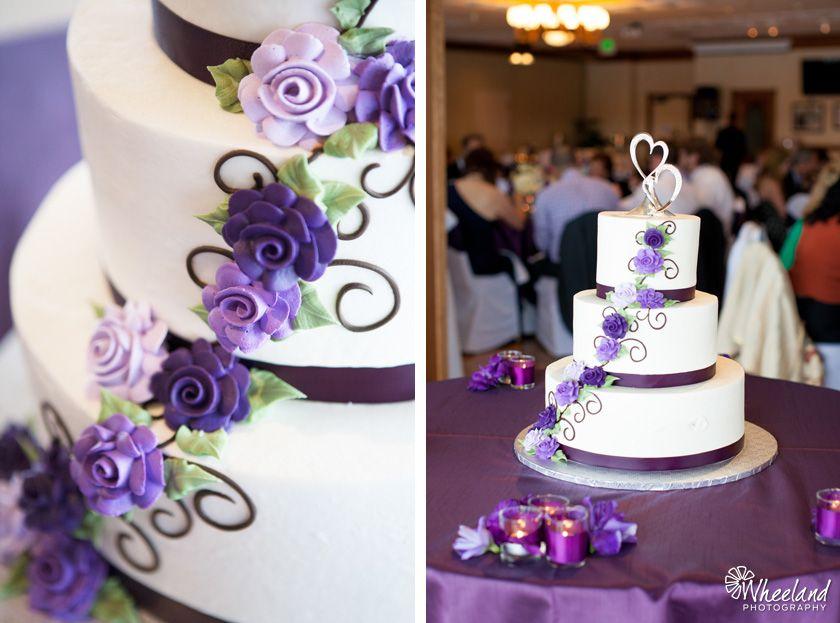 Purple Wedding Reception Cake Wheelandphotography