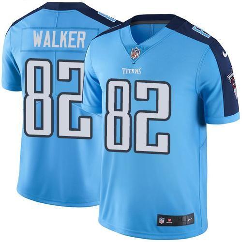 cheap for discount e08e4 6c807 Nike Titans #82 Delanie Walker Light Blue Men's Stitched NFL ...