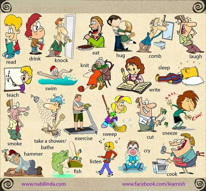 More action words (verbs). | Verbs (Doing Words) | Pinterest ...
