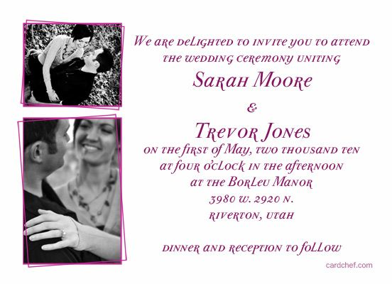10 Best images about Wedding Invitations – Sample Wedding Invitation Format