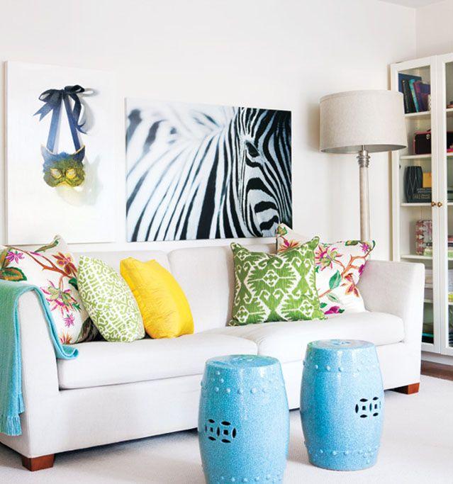 garden seat cor azul sala | Móveis e Objetos | Pinterest | Garden ...