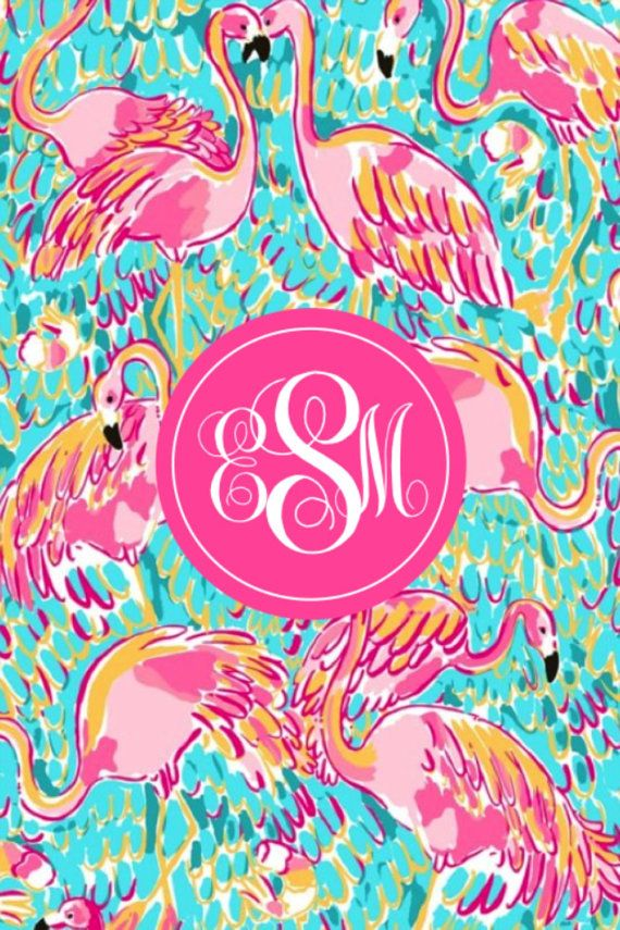 Lilly Pulitzer Monogram Iphone Wallpaper By EMonograms On Etsy 399
