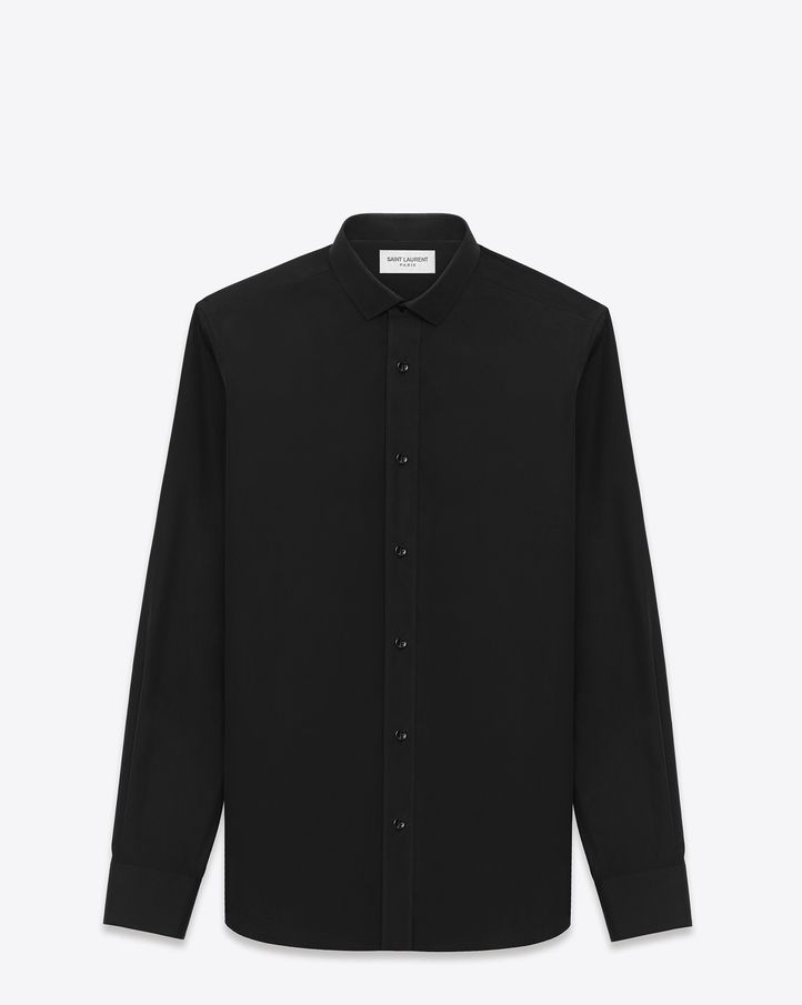 LONG SLEEVE BUTTON FRONT SHIRT WITH pointed Dylan COLLAR.