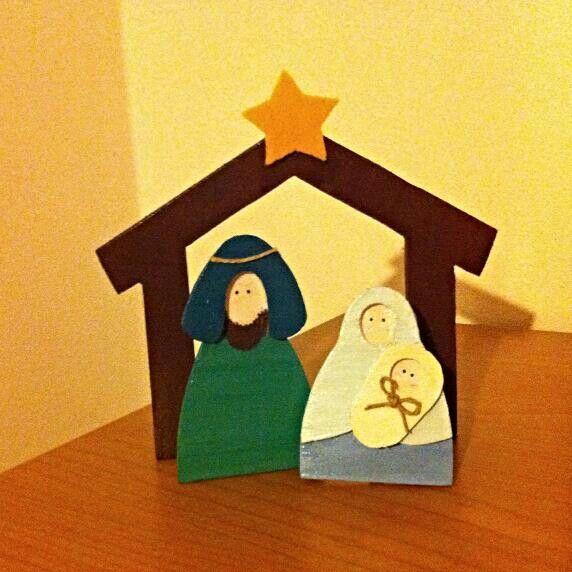 Presepe di legno   Decorazioni Natale   Home made Christmas decoration